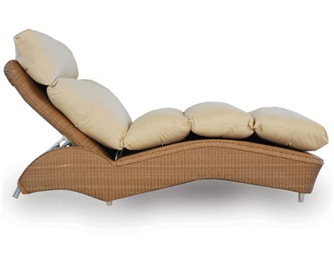 Loom Channel Tufted Chaise Lounge By Lloyd Flanders.