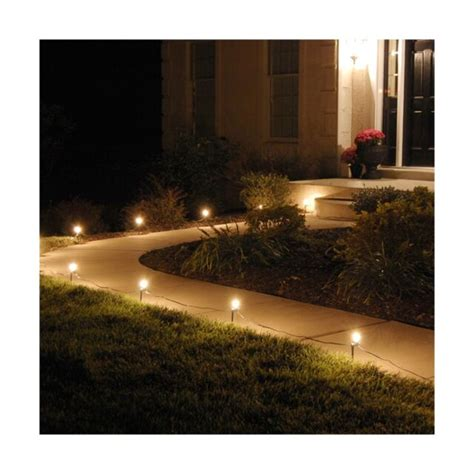 Lumabase 61010 10 Count Electric Pathway Lights Clear.