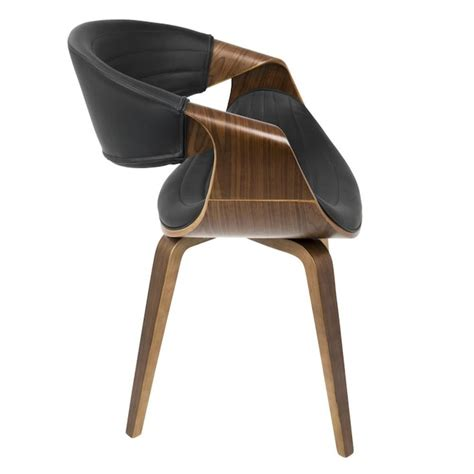 Lumisource Ch-Symp Wl Bk Symphony Chair Walnut Wood Black .