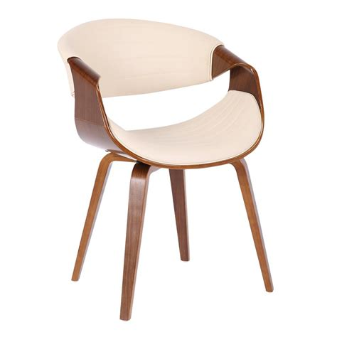 Lumisource Symphony Faux Leather And Wood Dining Chair
