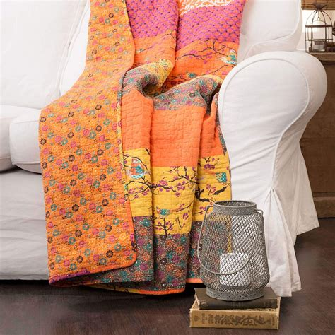 Lush Decor Royal Empire Throw 60 By 50-Inch Tangerine .