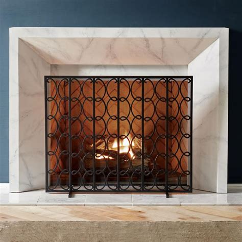 Lyon Fireplace Screen  Frontgate.