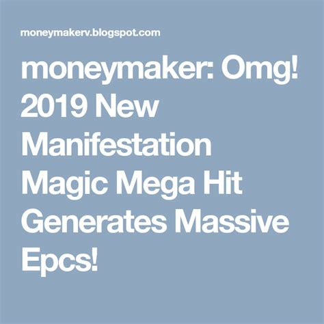 [click]manifmagic  2019 March New Manifestation Magic Mega Hit