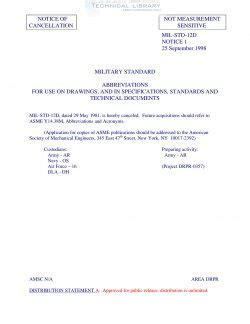 Mil-Std-12d 1  Specification Technical Standard .