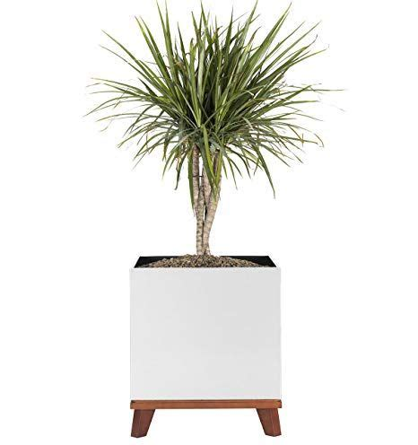Madeira Modern Cube Planter With Base - 16 X 16 X 20 .