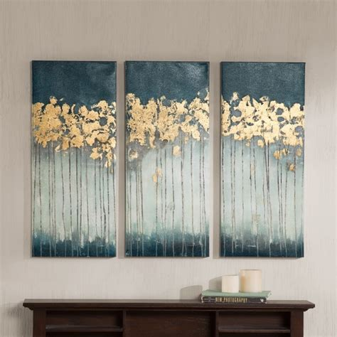 Madison Park Evening Forest Gel Coat Canvas 3 Piece Set .