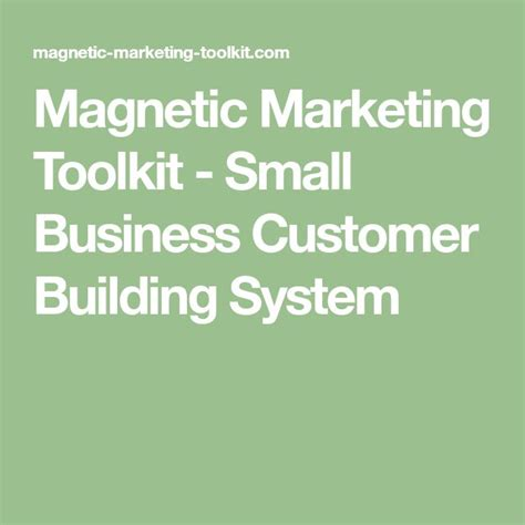 [click]magnetic Marketing Toolkit - Small Business Customer .