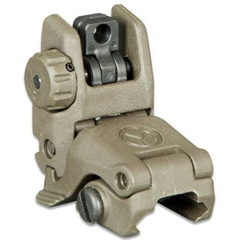 Magpul Mbus Gen 2 Ar-15 Rear Flip Up Sight Od Green .