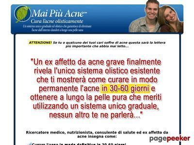 Mai Piu Acne (tm): The Original Acne No More (tm) System In Italian.
