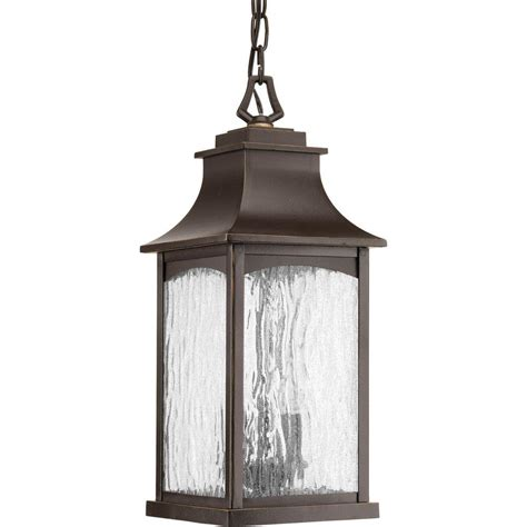 Maison Collection 2-Light Outdoor Black Hanging Lantern.