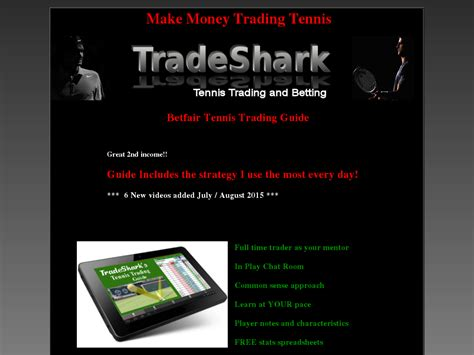 Make Money Online Trading Tennis. Low Risk Proven Methods Think.