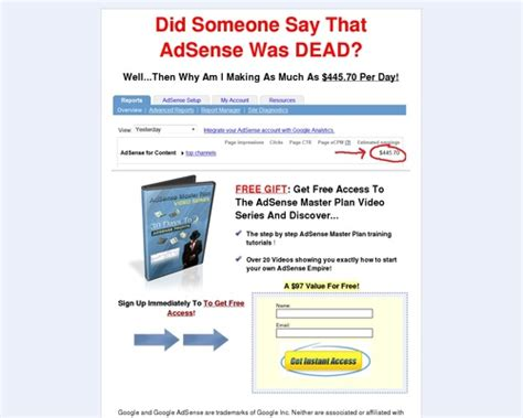 [click]make Money With Google Adsense - Adsense Master Plan Video .