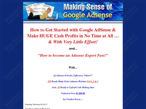 Making Sense Of Google Adsense - Become An Adsense Expert.
