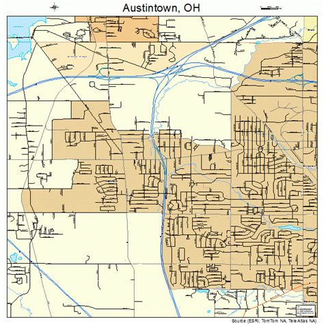 Map of Austintown OH