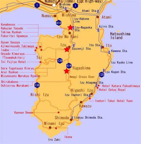 Map of Izu Peninsula Japan