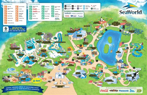 Map of SeaWorld San Antonio