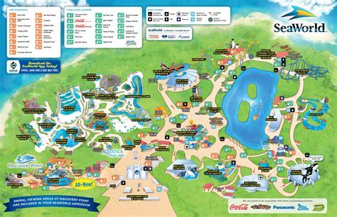 Map of SeaWorld San Antonio