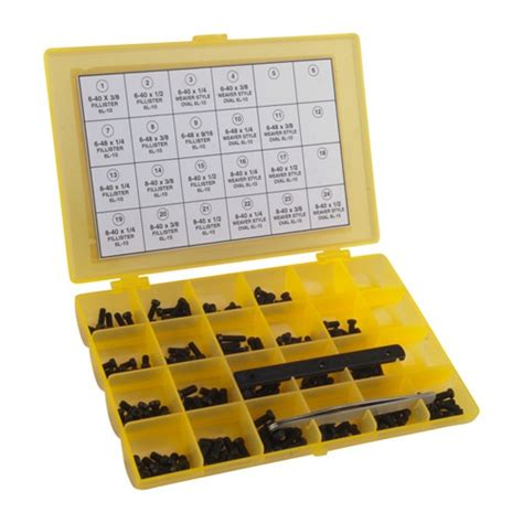 Master Gunsmith Screw Kit-202 Piece Kit - Brownells Italia.