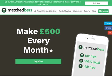 [click]matchedbets - Make Guaranteed Profits From Betting Offers.