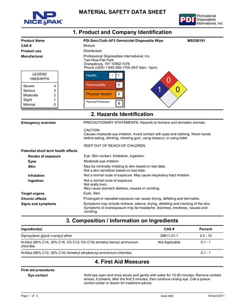 [pdf] Material Safety Data Sheet - Worldpac.