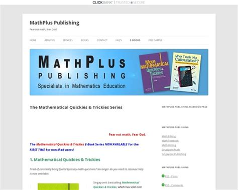 Mathematical Quickies And Trickies – Madcashcentral Affiliate.