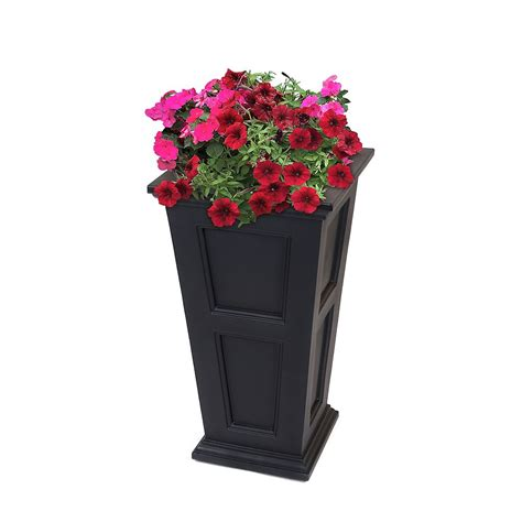 Mayne Fairfield Tall Planter In Black  The Home Depot Canada.