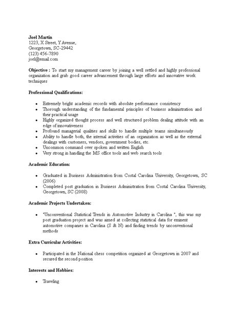 career objective for resume for mba full size of curriculum