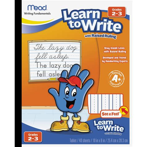 Mead Learn To Letter With Raised Ruling Writing Tablet 40 .