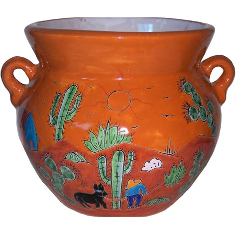 Medium Size Desert Talavera Ceramic Pot  131315-47.