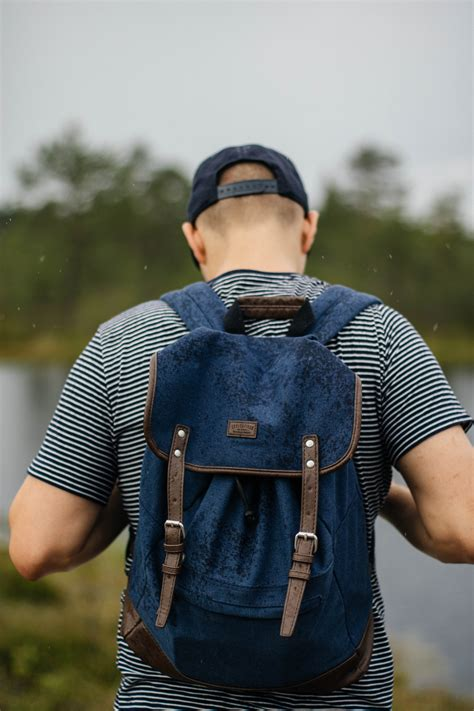 Men Wearing Backpacks