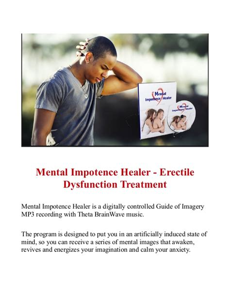 [click]mental Impotence Healer - Erectile Dysfunction Treatment.