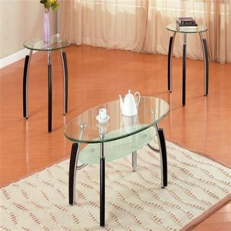Metal And Glass End Table Modern