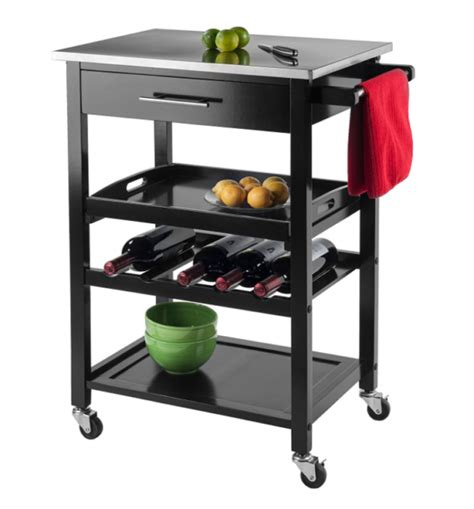 Metal Kitchen Carts On Wheels With Drawers