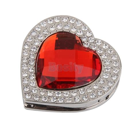 Metal Purse Hanger Of Rhinestone Heart Design Carry 5kg .