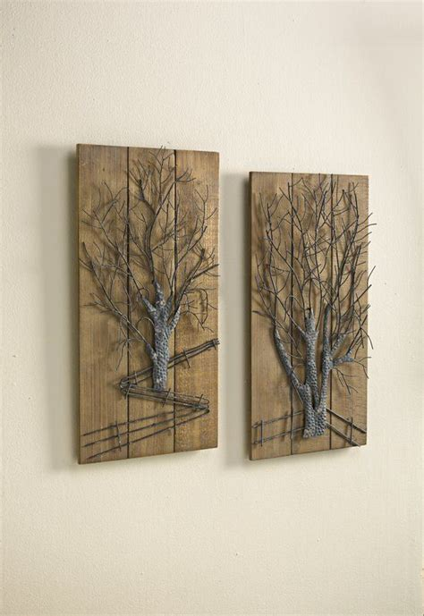 Metal Tree 2 Piece Graphic Art Set - Wayfair Com.