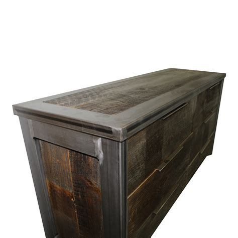 Metal Wood Industrial Dresser