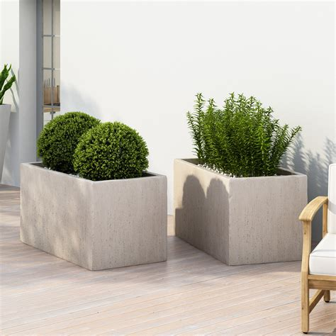 Metal Standard Planters Large Outdoor Decor  Bizrate.