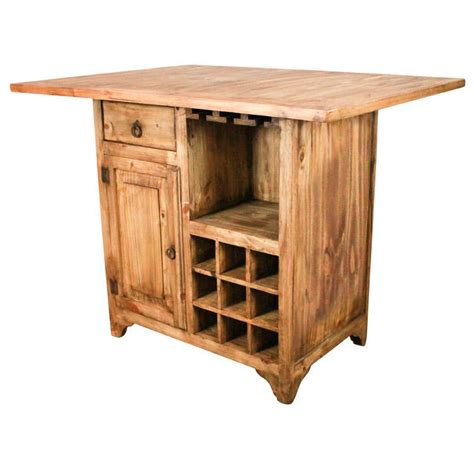 Mexican Pine Kitchen Island