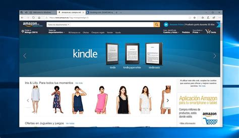 Microsoft Edge Utiliza Enlaces De Afiliados De Amazon Y Booking.
