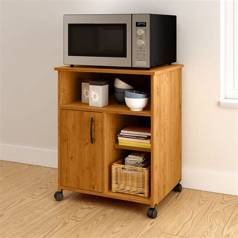 Microwave Carts With Storage And Wheels