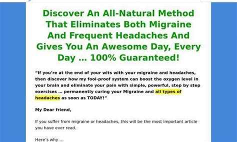 [click]migraine  Headaches Program Sp Cb  Blue Heron Health News.