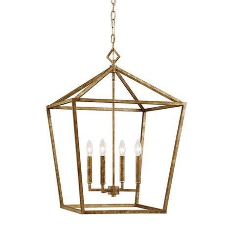 Millennium Lighting Vintage Gold 20-Inch Four-Light Pendant.