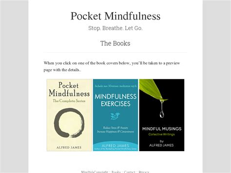 [pdf] Mindfulness Meditation Books By Alfred James.