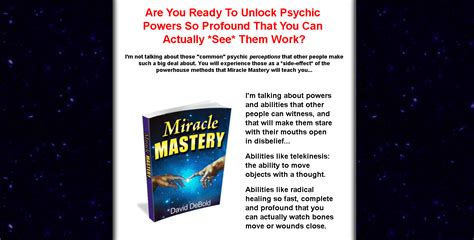 @ Miracle Mastery Review Unlock The Psychic Powers Hidden .