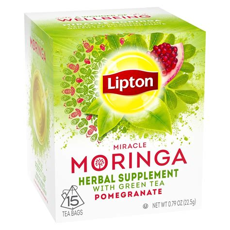 Miracle Moringa Herbal Supplement With Green Tea - Lipton.