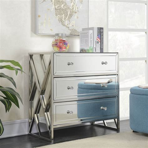 Mirrored 3 Drawer Chests