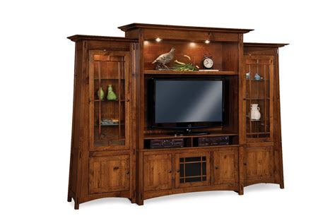Mission Style Entertainment Center Wall Unit