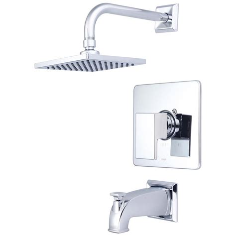 Mod 1-Handle Tub And Shower Trim Kit In Polished Chrome .