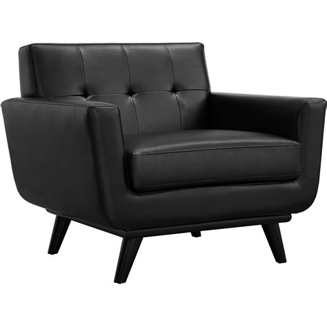Modway - Modway Engage Bonded Leather Armchair Eei-1336 .