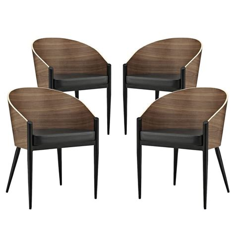 Modway Cooper Dining Chairs Set Of 4 Eei-1683 Walnut From .